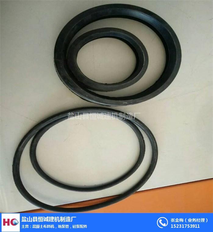 泵管膠圈聚氨酯膠圈-遂寧泵管膠圈-恒誠建機(查看)