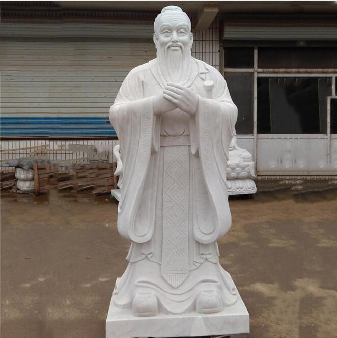 校园石雕孔子像-石雕孔子-众邦雕刻(查看)