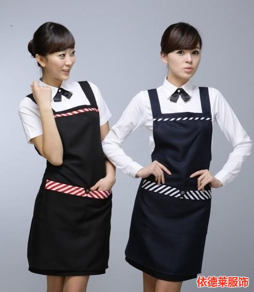 圍裙,四川樂山無袖圍裙制作廠家,依德萊服飾