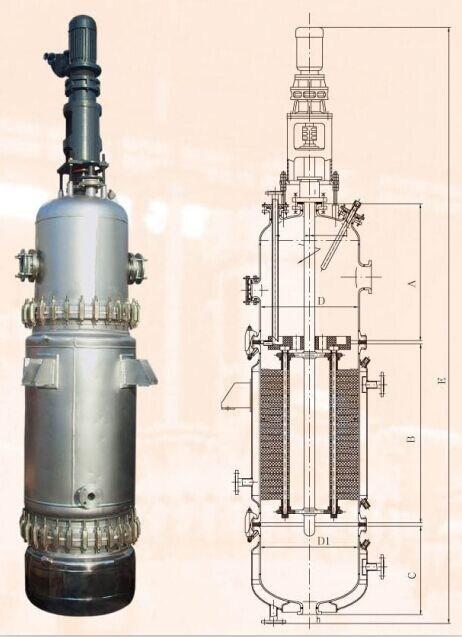 程明化工搪玻璃反應罐(圖)-薄膜蒸發器報價-吉安薄膜蒸發器