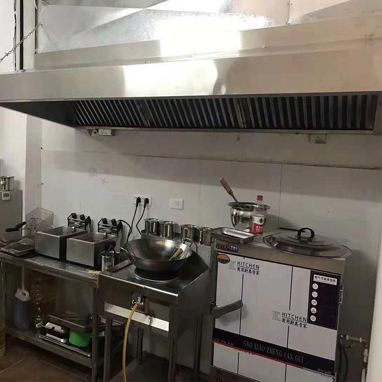 餐飲廚房排煙罩-興展環保排煙設備-餐飲廚房不銹鋼排煙罩