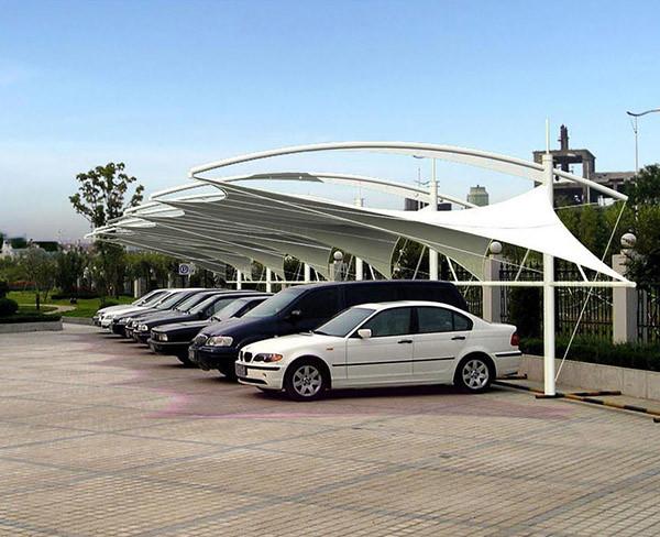 杭州膜結構停車棚-安徽斕屏 經久**-膜結構停車棚多少錢