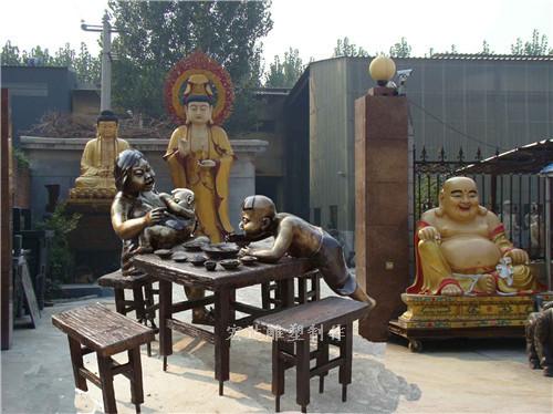现代人物小品雕塑-小品雕塑-古今人物制作