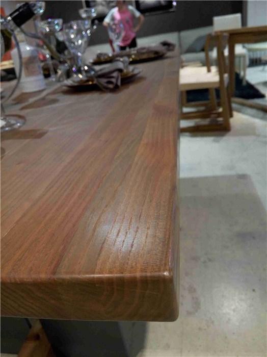 新疆实木餐桌椅、祺丰家居、简约复古实木餐桌椅