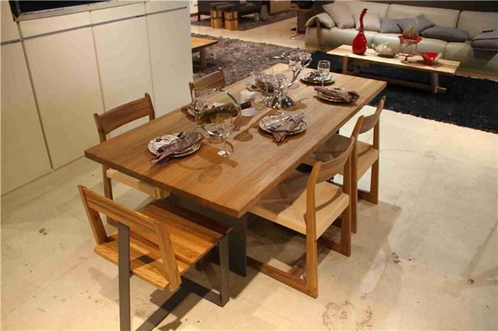 简约复古实木餐桌椅,河北实木餐桌椅,祺丰家居