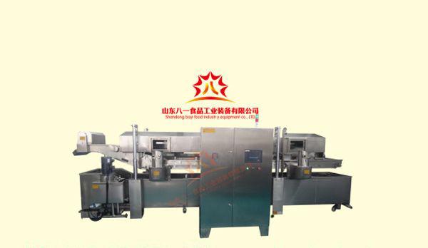 油炸生产线蒸煮设备_油炸生产线_山东八一