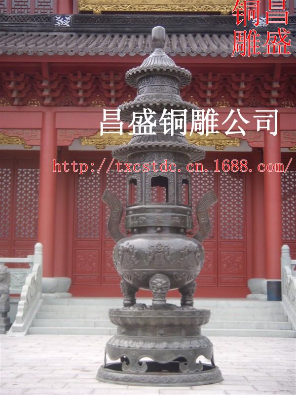 昌盛铜雕|三亚香炉|仿古铜香炉