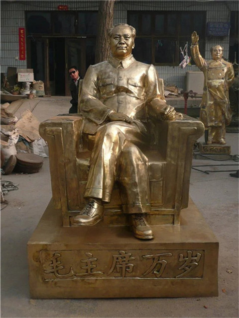铸铜牛耕田雕塑报价