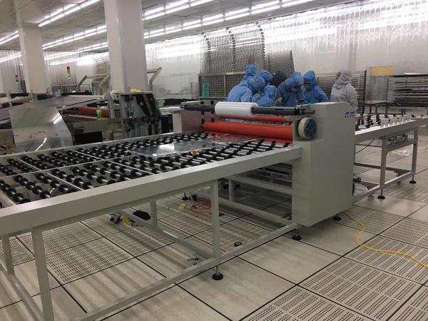 导光板清洁覆膜机设备、华中清洁覆膜机、盛远、玻璃基板覆膜机