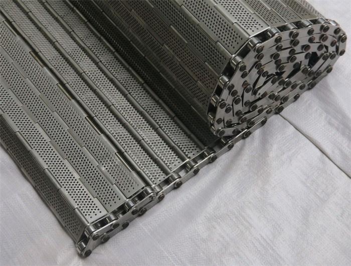 输送花生不锈钢链板-南通网带输送机-冲孔输送链板(查看)
