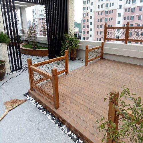 景致木业 户外炭化木地板多少钱一方 深度炭化木地板价格是多少