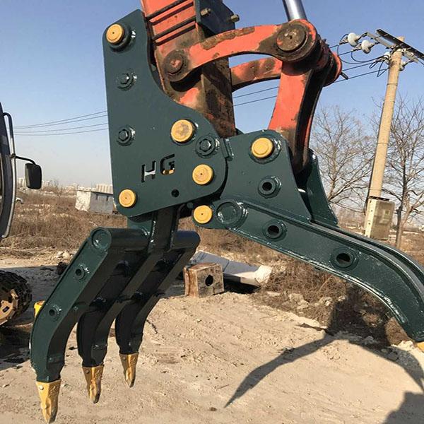 对夹式抓木器多少钱 鸿工机械 抓木器批发 五爪抓木器报价