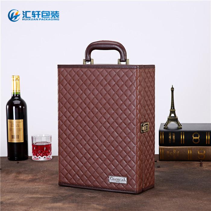 红酒礼盒_汇轩包装盒款式丰富_红酒礼盒2支装