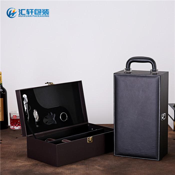 红酒礼盒_汇轩包装盒值得推荐_现货红酒礼盒