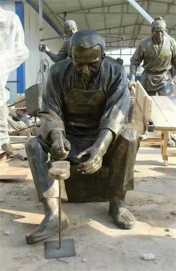 河北修鞋匠雕塑、艺铭雕塑、修鞋匠雕塑生产厂家