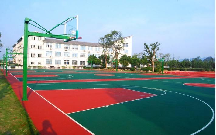 园区休闲篮球场、篮球场、科迈奇体育