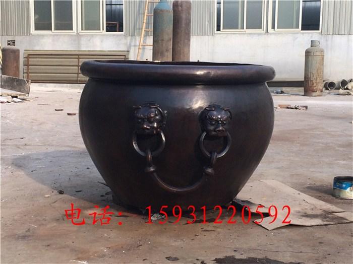 铜缸|瑞宇铜雕塑厂家|小型铜缸摆件