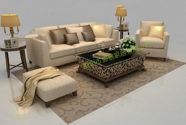 荆州实木沙发、中式实木沙发图、盛景家居(优质商家)