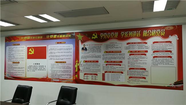文化墙贴纸、浦东新区文化墙、磁善家