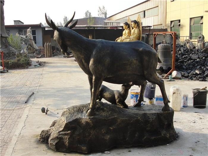 苏格兰牧羊犬图片_大型动物雕塑_羊