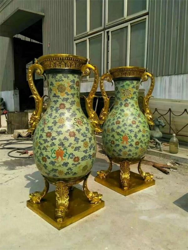 工艺品(图)、景泰蓝花瓶价格、泸州景泰蓝
