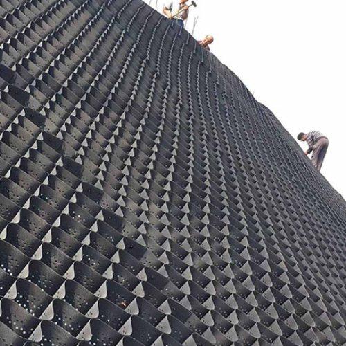 焊接土工格室 蜂巢土工格室国标 大广新材料 光面土工格室