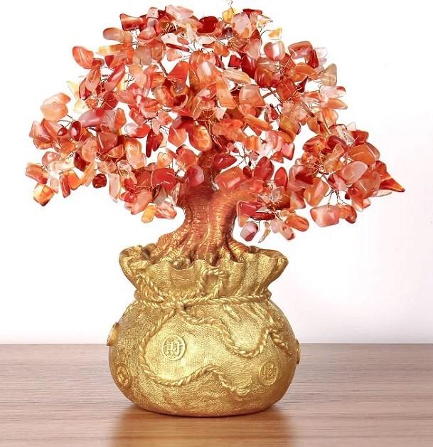 宁夏宝石工艺品、罡王实业、宝石工艺品摇钱树