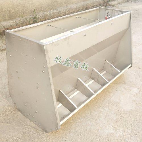 牧鑫 养猪场双面不锈钢食槽怎么安装 保育双面不锈钢食槽怎么安装