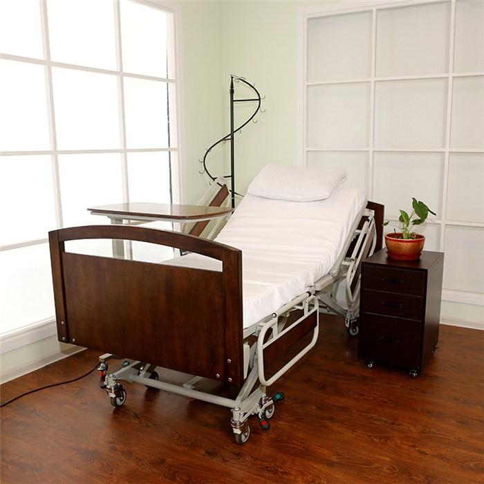 老人护理床手摇病床图片