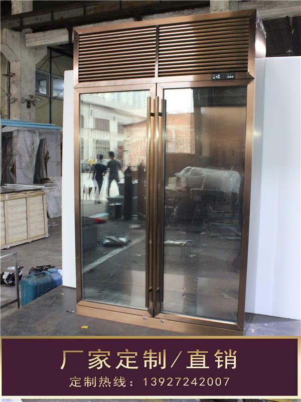 鹤岗不锈钢酒柜、钢之源金属制品、家用不锈钢酒柜