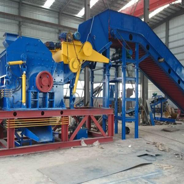 陕西大型废钢破碎机,再生废钢破碎机,大型废钢破碎机全套生产线