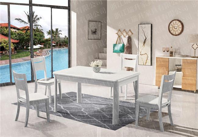 橡胶木餐桌椅厂家直销、浙江瑞升家具有限公司、泉州实木餐桌椅