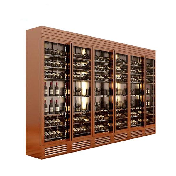 现代不锈钢酒柜销售