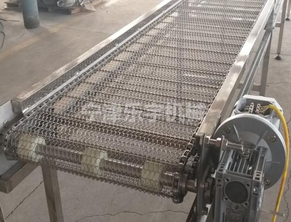 喷淋直行网带输送机定做-乐宇机械-山西喷淋直行网带输送机