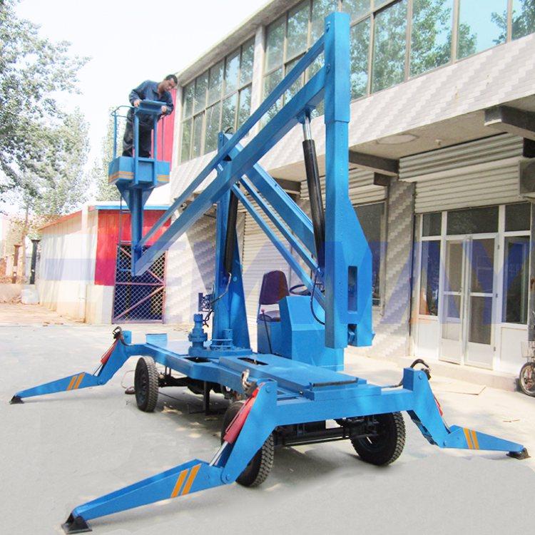 钧迈机械 10米四轮自行曲臂升降机便宜