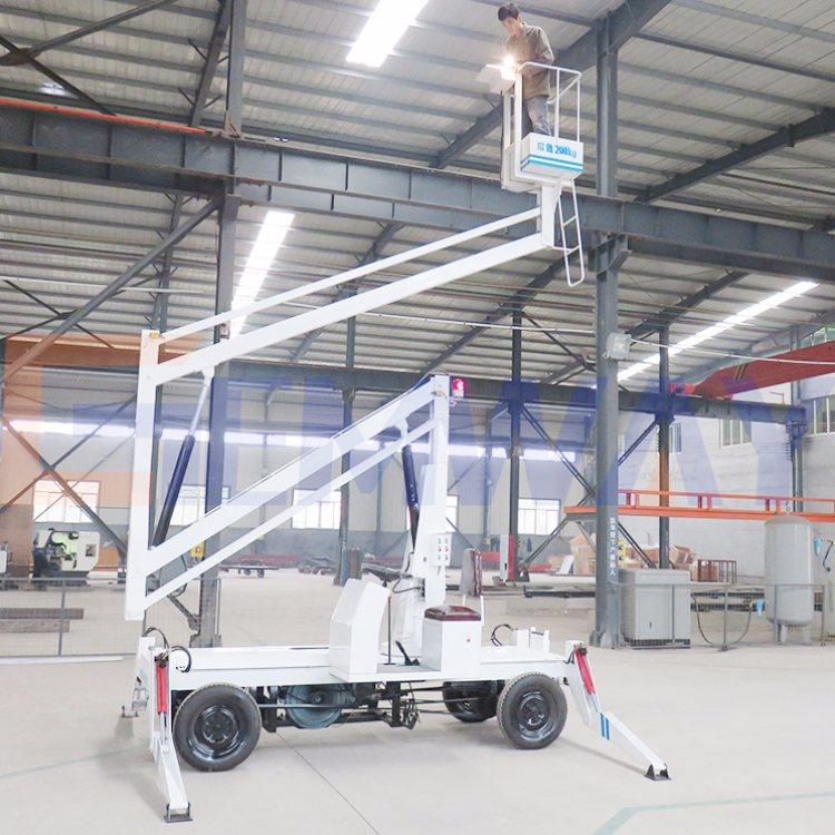 360度旋转四轮折臂升降机 云南四轮折臂升降机定制 钧迈机械