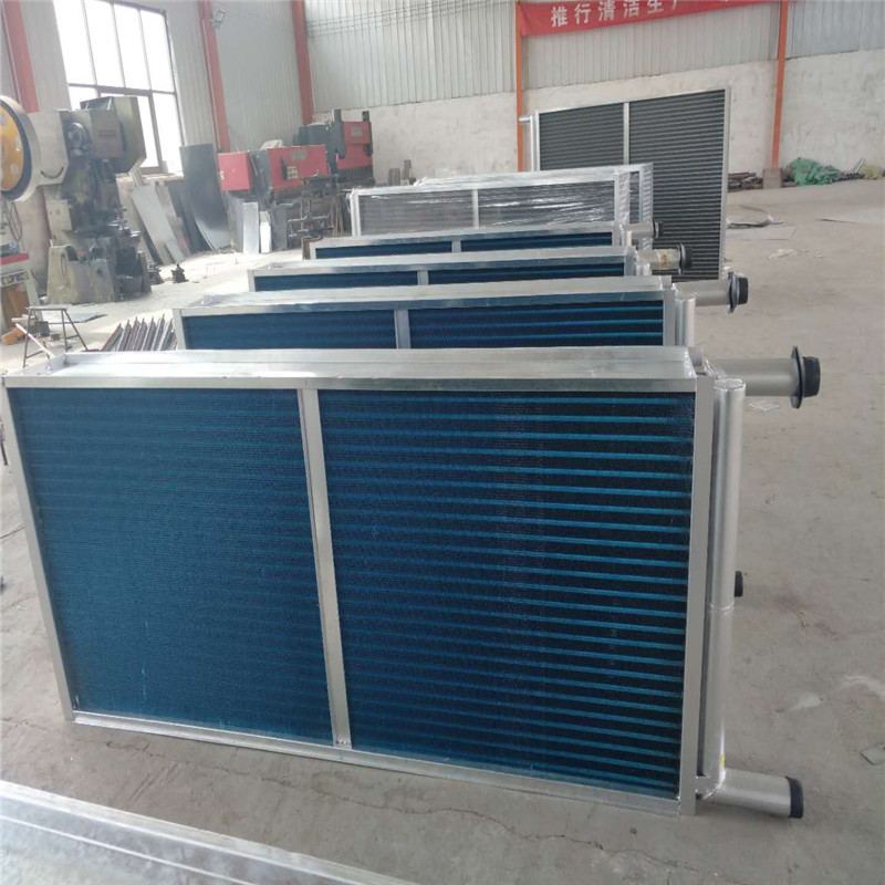 内蒙铜管串片表冷器图片 万冠空调 鲁权屯铜管串片表冷器加工