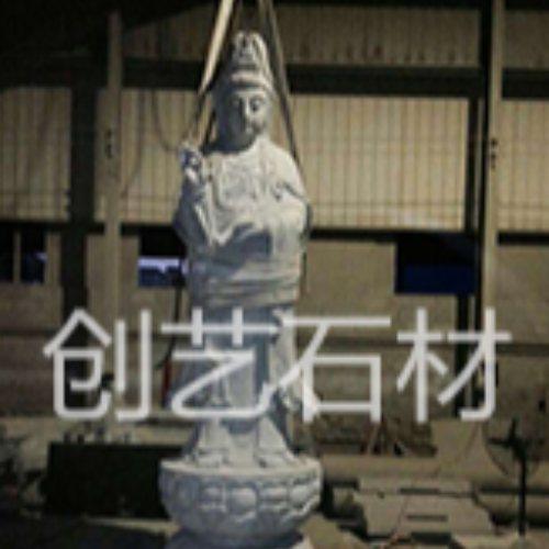 露天大型石雕佛像作用 唐佛像作用 寺庙佛像制作 创艺石材