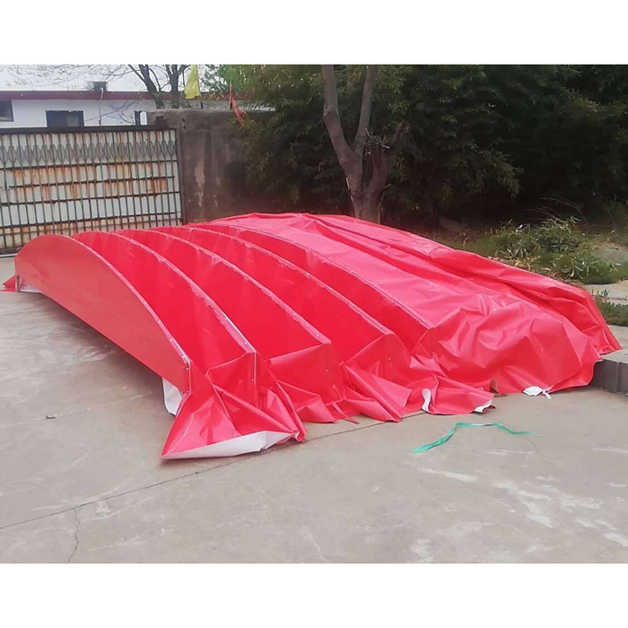 鲁耐 防雨推拉篷布批发 防雨推拉篷布 户外推拉篷布定制
