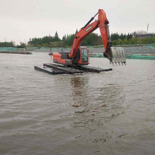 华放建设 河北水路两用挖机租赁公司 荆门水路两用挖机租赁出租