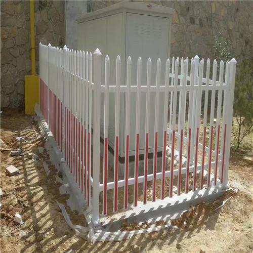 变压器周围护栏高度pvc变压器护栏pvc护栏规格 鼎鑫