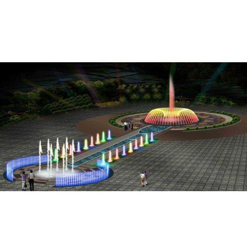 大型灯光喷泉设计图 广场灯光喷泉图纸 灯光喷泉效果图 山木景观