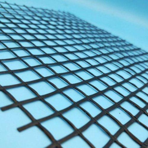 公路钢塑复合土工格栅固定方法