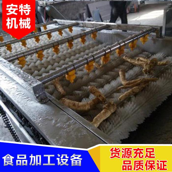 安特 胡萝卜毛棍清洗流水线注意事项 果蔬毛棍清洗流水线生产厂商