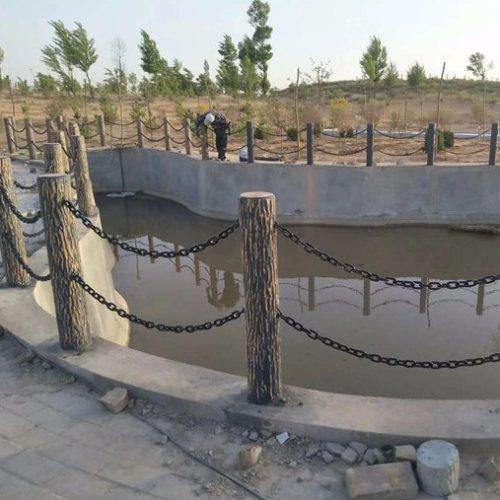 丽景建材 新农村水泥仿木桩围栏多少钱