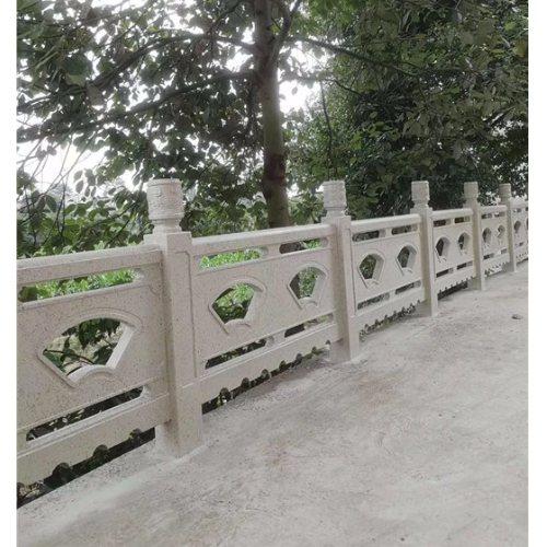 木色仿石栏杆定制 丽景建材 水泥仿石栏杆批发 本地仿石栏杆出售