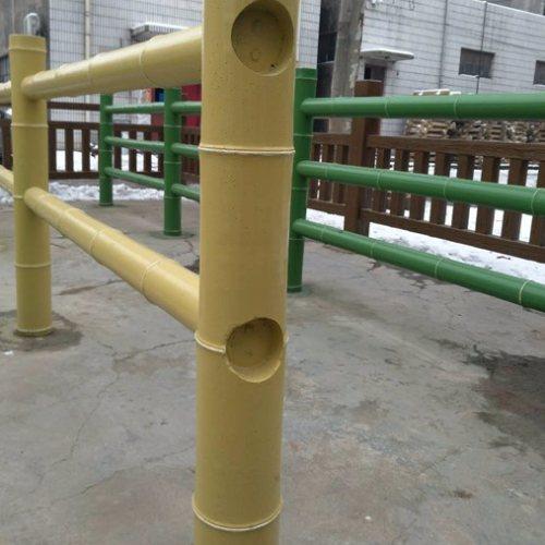丽景建材 景区水泥仿竹栏杆商家 景区水泥仿竹栏杆定做