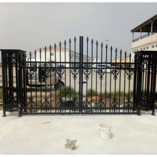 平轩金属 定制中式铁艺大门供应 优质中式铁艺大门供应
