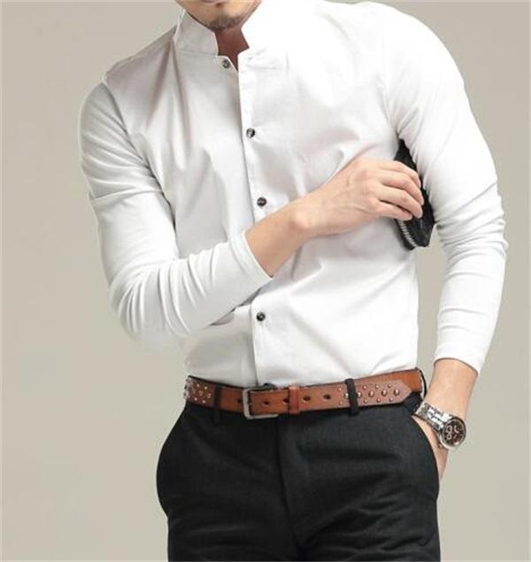 修身正装衬衫订制-潍坊正装衬衫订制-美恒服装厂