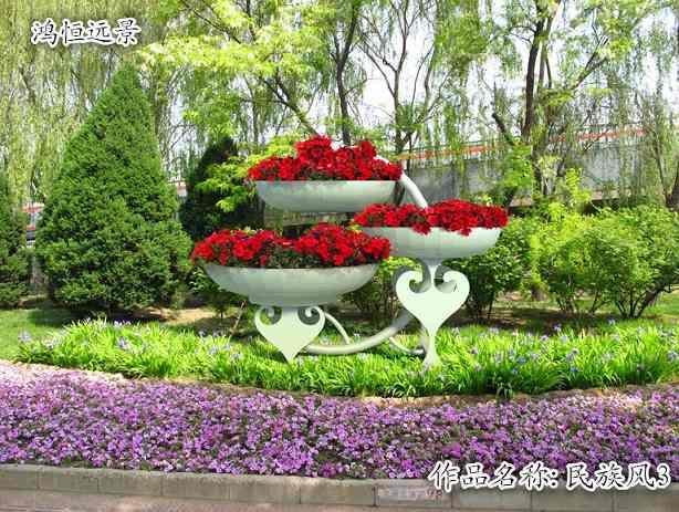 工艺花盆容器,社区 美化/绿化工艺花盆,鸿恒远景
